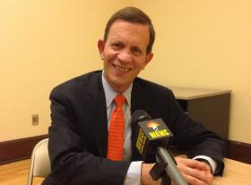 Massachusetts Treasurer and democratic gubernatorial candidate for governor in 2014, Steve Grossman, spoke with members of the Berkshire Brigades. He sat down with WAMC News as well.