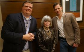 Joe Donahue with Anne and Christopher Rice