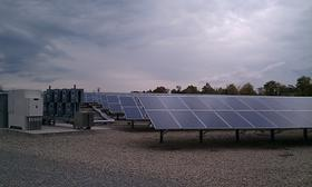 Solar panels at Western Massachusetts Electric Co.'s facility in the Indian Orchard neighborhood of Springfield, MA.