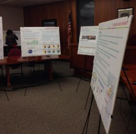 People can learn more about energy saving programs and incentives at open houses like this one in North Adams City Hall.