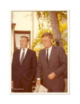James MacGregor Burns with then President-elect John F. Kennedy in Palm Beach, Florida in 1960.