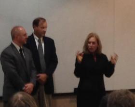 U.S. Sen. Kirsten Gillibrand addresses students at Fulton-Montgomery Community College