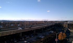 A section of the elevated portion of I-91 in downtown Springfield