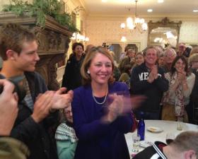 Saratoga Springs Mayor-Elect Joanne Yepsen on election night.