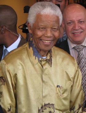 Nelson Mandela in Johannesburg, Gauteng, May 13, 2008