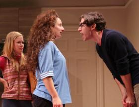 """Molly Ranson, Tracee Chimo, and Michael Zegen in """"Bad Jews"""""""