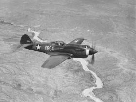 An example of a Curtiss P-40B Warhawk.
