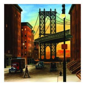 Wendell Minor - The Manhattan Bridge