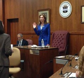 Melissa Mazzeo takes over as the Pittsfield City Council President.