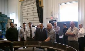 Mass. Gov. Deval Patrick toured Advance Manufacturing Co. of Westfield