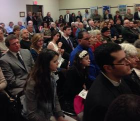 Pittsfield City Hall chambers were jam-packed for the inauguration of city government Monday.