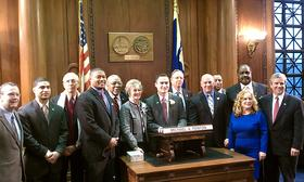 The Springfield City Council 2014-15 ( ltor) Timothy Rooke,Orlando Ramos, Clodo Concepcion, Justin Hurst, Henry Twiggs,Kateri Walsh,Mike Fenton,Kenneth Shea,Tom Ashe, Melvin Edwards,Bud Williams, Zaida Luna, Tim Allen