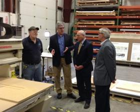 Congressman Tonko visits with employees at Creatacor