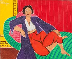 """Elmyr de Hory's forged Matisse, """" Odalisque"""" is one of the paintings on display in the exhibit on deception in the art world."""