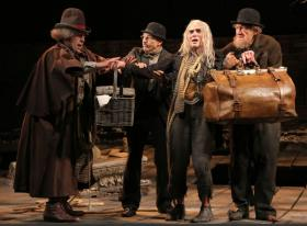 "Shuler Hensley, Patrick Stewart, Billy Crudup, and Ian McKellen in ""Waiting for Godot"""