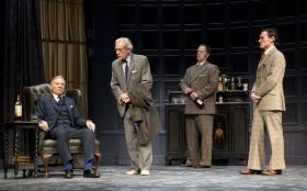 "Patrick Stewart, Ian McKellen, Shuler Hensley, and Billy Crudup in ""No Man's Land"""