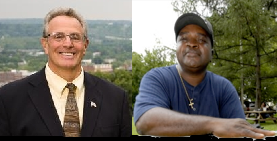 Troy NY Mayor Lou Rosamilia and Pastor Willie Bacote