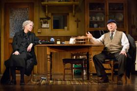 "Dearbla Molloy and Peter Maloney in ""Outside Mullingar"""