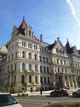 The NYS Capitol Building.