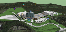 A rendering of the proposed casino project located off Route 4 in East Greenbush