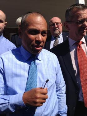 Gov. Patrick in North Adams Tuesday.
