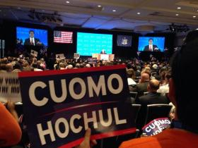 Democratic convention-goers nominated Gov. Cuomo Thursday.