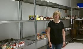 Candace Larger, program director at Open Pantry in Springfield, MA