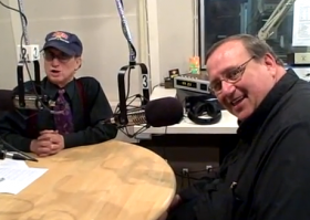 WAMC's Alan Chartock with Father Kevin Mullen.