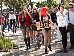 Proud Slut and friends from SlutWalk Cape Town