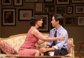 "Anna Chlumsky and Justin Long in ""Living on Love"" at The Williamstown Theatre Festival"