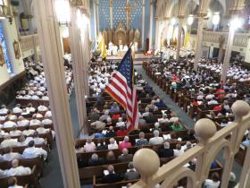 St. Michael's Cathedral was full for the installation rites.