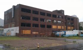 A  study suggests this building, which was heavily damaged by a gas explosion in 2012 could be redeveloped as a catalyst for a Springfield innovation district.