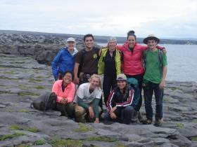 Williams College Professor Rónadh Cox and Williams students in Ireland this year. Back row, left to right: Cox, Jorge Castro, Oona Watkins, Kelsey Adamson and Spenser Irvine. Front row, left to right: Kelly Tellez, Caroline Atwood and Laura Stamp.