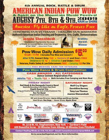 Flyer for 4th Rock, Rattle and Drum Pow Wow