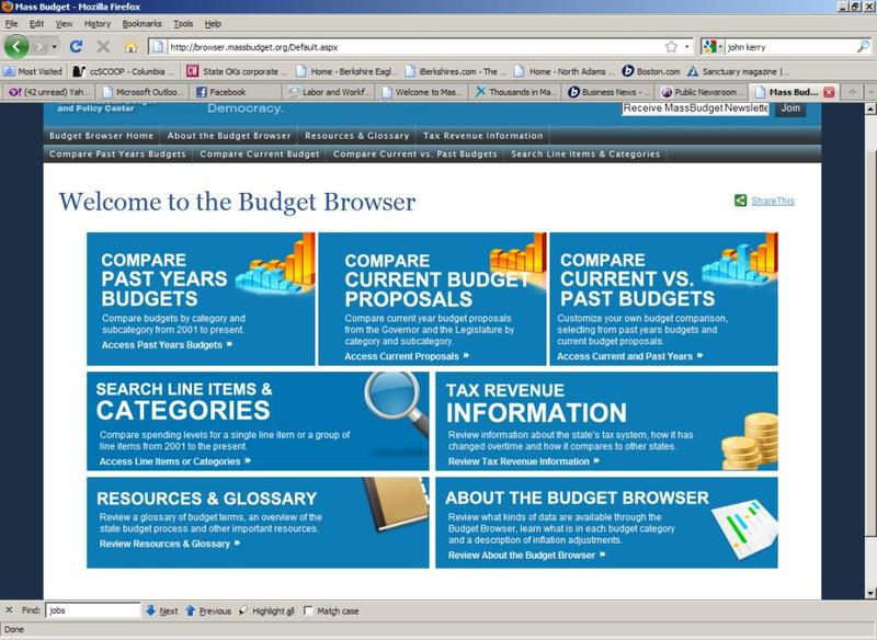 Homepage thumbnail of the Budget Browser