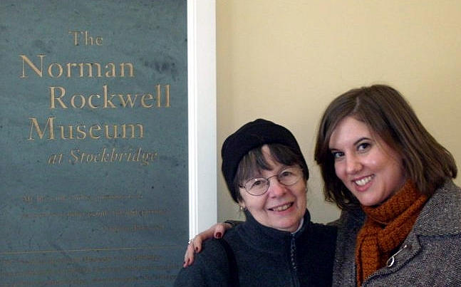 Sarah and Carolyn LaDuke at The Norman Rockwell Museum in January 2011.