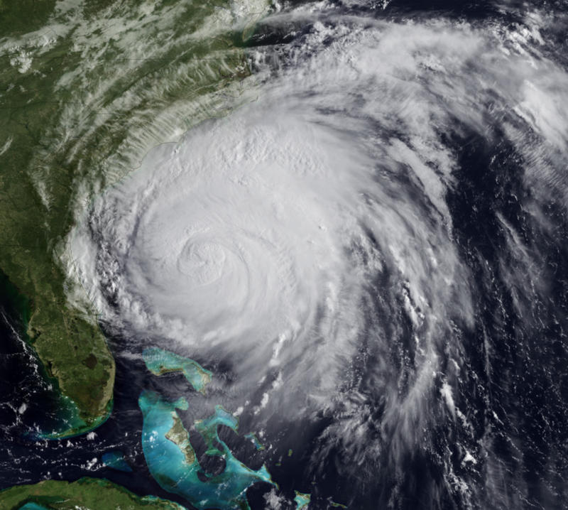 Hurricane Irene Approaches the Outer Banks in August 2011