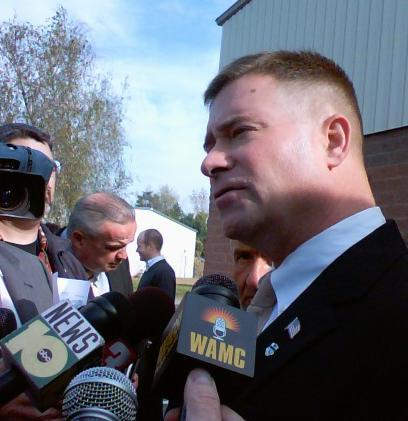 Congressman Chris Gibson (NY-20) speaks to reporters in Saratoga County [October 24, 2011]