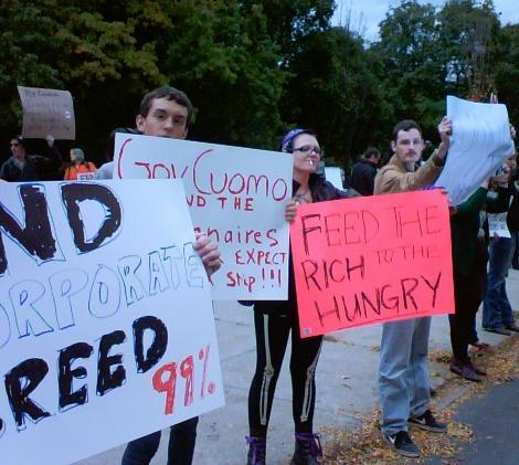 Occupy protestors in Albany, October 21, 2011