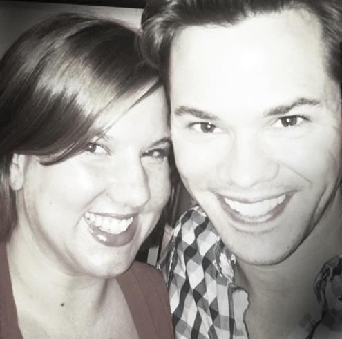 Sarah LaDuke and Andrew Rannells