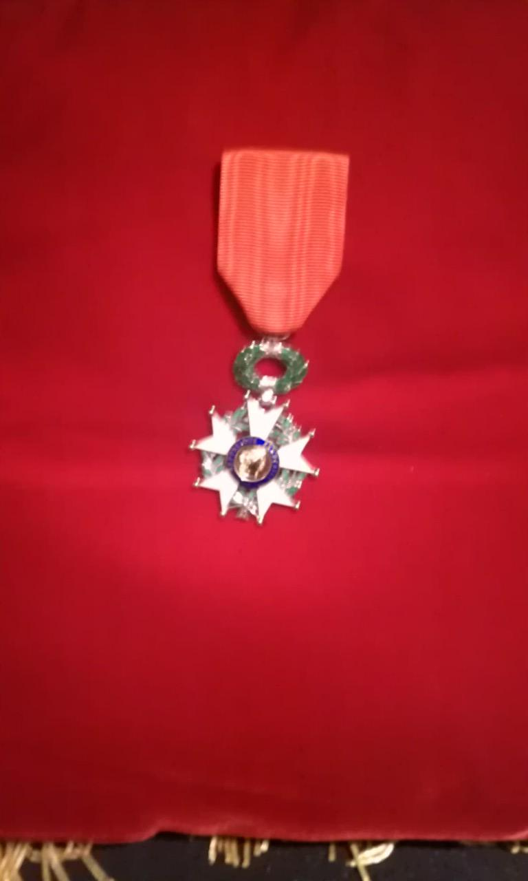 The French Legion of Honor presented to Joseph Della Guistina in honor of his landing in France on D-Day and fighting to liberate the country
