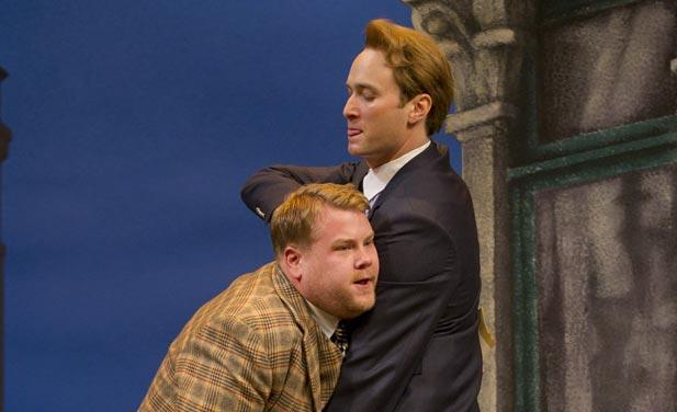 James Corden and Oliver Chris in <em>One Man, Two Guvnors</em>
