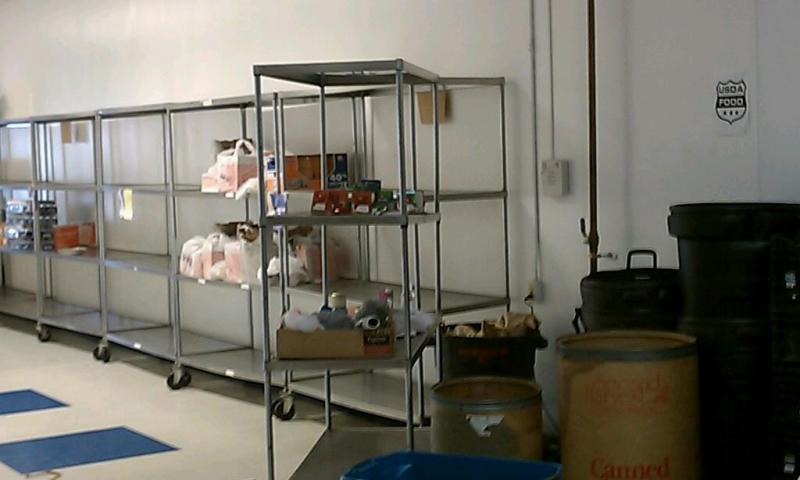 The shelves are mostly bare at the Open Pantry Emergency Food Pantry in Springfield MA