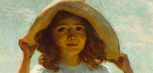 Child in Sunlight, 1915, Willard Leroy Metcalf (1858-1925), oil on canvas