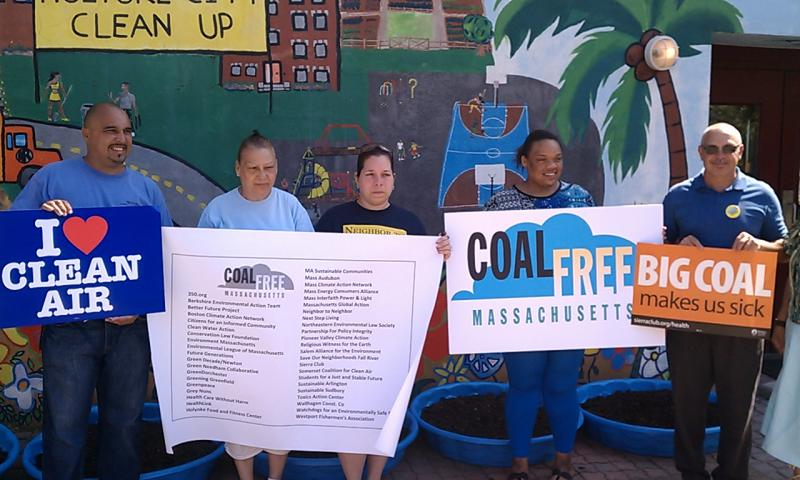 "Members of  ""Coal Free Massachusetts"" demonstrate in Holyoke"