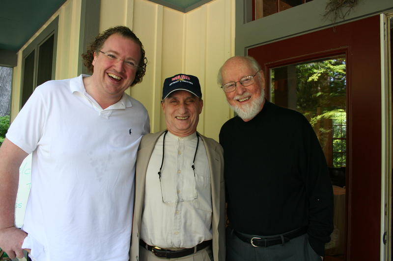 Stéphane Denève, Alan Chartock, and John Williams
