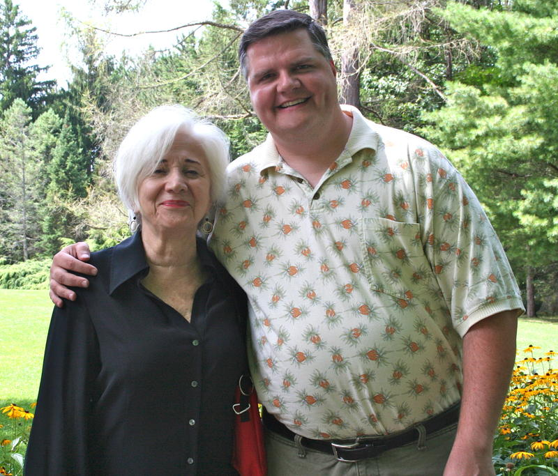 Joe Donahue and Olympia Dukakis