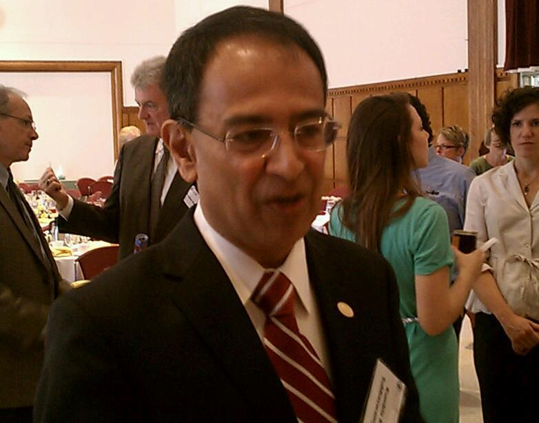 UMass Amherst Chancellor Kumble Subbaswamy makes his debut at the 46th annual community breakfast