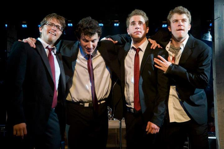 Will Roland, Harrison Chad, Ben Platt and Jason Hite in <em>The Black Suits</em> at Barrington Stage