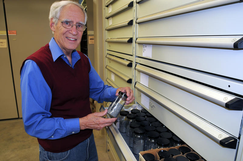 Earle McBride discovered shrapnel and other microscopic relics from the D-Day invasion more than four decades later on Omaha Beach.